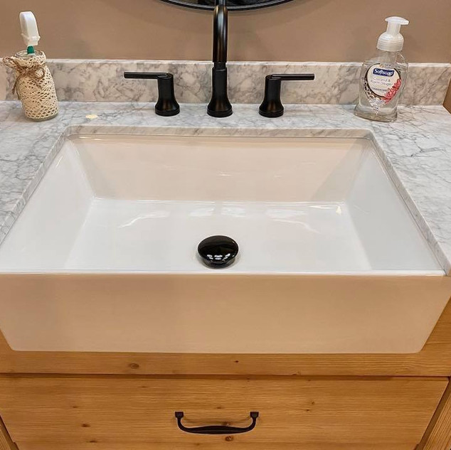 Farmhouse bath sink