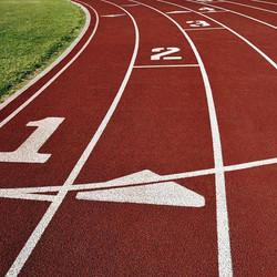 School spray coating running track