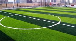 Artificial grass football field