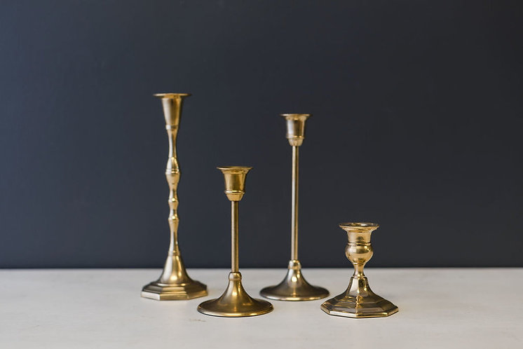 Assorted Brass Taper Candle