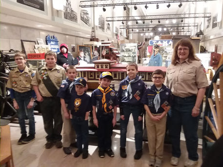 The Cub Pack 777 visited the Museum for a guided tour.
