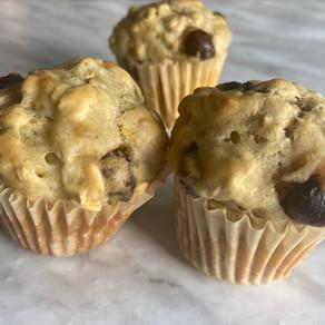 Sugar Free Banana Oatmeal Muffins