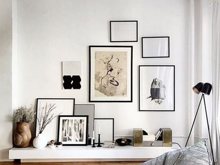 Creating a picture frame gallery wall