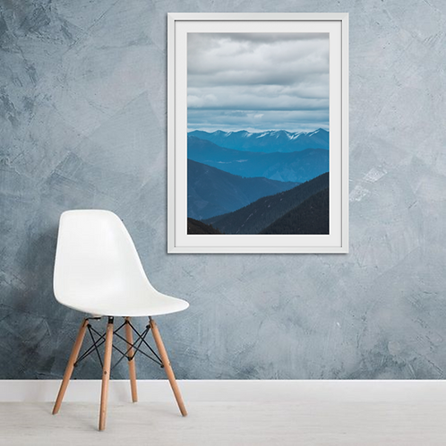 Mountains Under White Cloud
