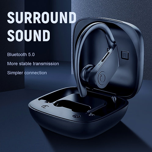 Bluetooth Earphone 5.0 TWS Wireless Headphons with 3D Stereo & Mic Charging Box