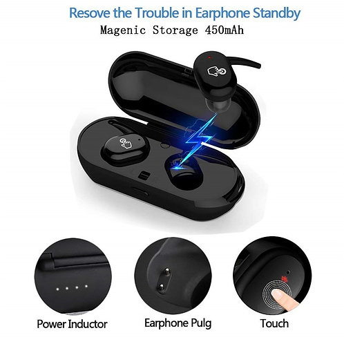 Y30 TWS Wireless Blutooth 5.0 Earphone Noise Cancelling, 3D Stereo Sound