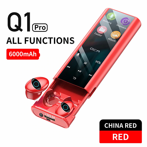 QCR Q1 Wireless Bluetooth Earphone Earbuds & Multi-Function MP3 Player
