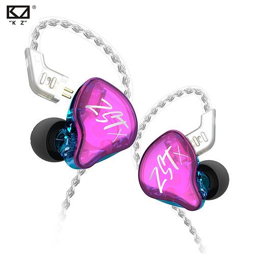 KZ ZST X 1BA+1DD In-Ear Earphones Hybrid Unit HIFI Bass Sports DJ Earbuds