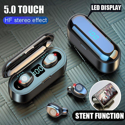H&A Bluetooth V5.0 Stereo Earphone with  2200mAh Power