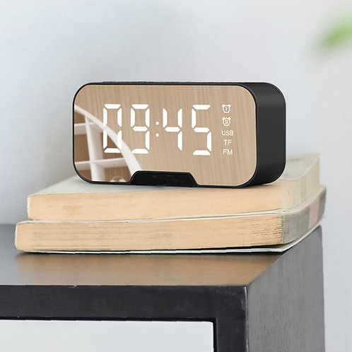 Portable Bluetooth Speaker Super Bass Wireless Stereo Speakers With Alarm Clock