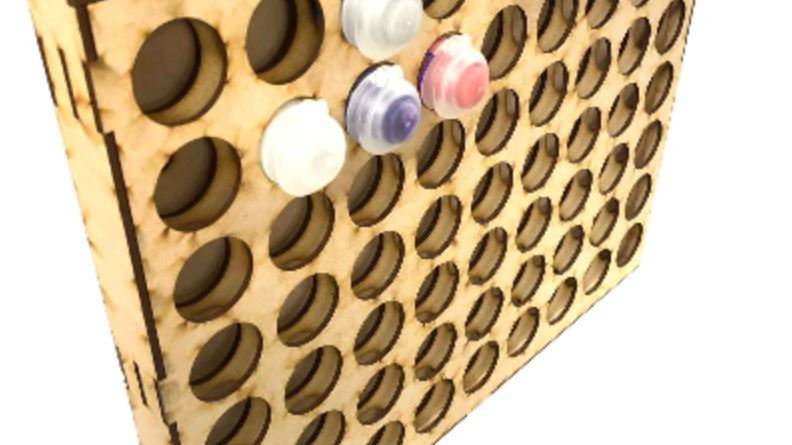 Wood Paint Rack Organizer / Citadel 12ml Wall Mountable - 63