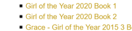 Girl Of The Year 2020 Books Listed!