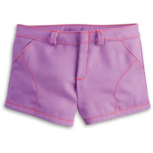 American Girl Doll Truly Me Purple Play Shorts, American Girl Truly Me Shorts, American Girl Doll Back-To-School Looks, American Girl Doll Truly Me Shorts, American Girl Doll Mix And Match Collection, American Girl Doll Isabelle Palmer Girl Of The Year 2014 Mix-And-Match Collection