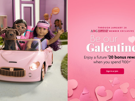 American Girl $20 Bonus Reward Deal
