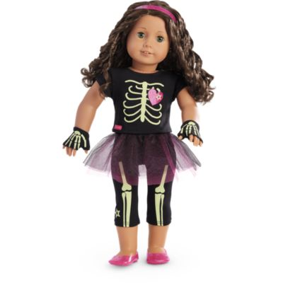 American Girl Doll Truly Me Skeleton Outfit, American Girl Truly Me Skeleton Outfit, American Girl Skeleton Costume, American Girl Halloween Costumes For Dolls, American Girl Doll Just Like You 44, American Girl Doll The 10 Year Old President Series, American Girl Doll Halloween Dance Isabelle Dances Into the Spotlight, American Girl Doll Bumblebee Costume Truly Me, American Girl Doll Monster Costume Truly Me, American Girl Doll Witch Costume Truly Me, American Girl Doll Elsa Dresses for Halloween