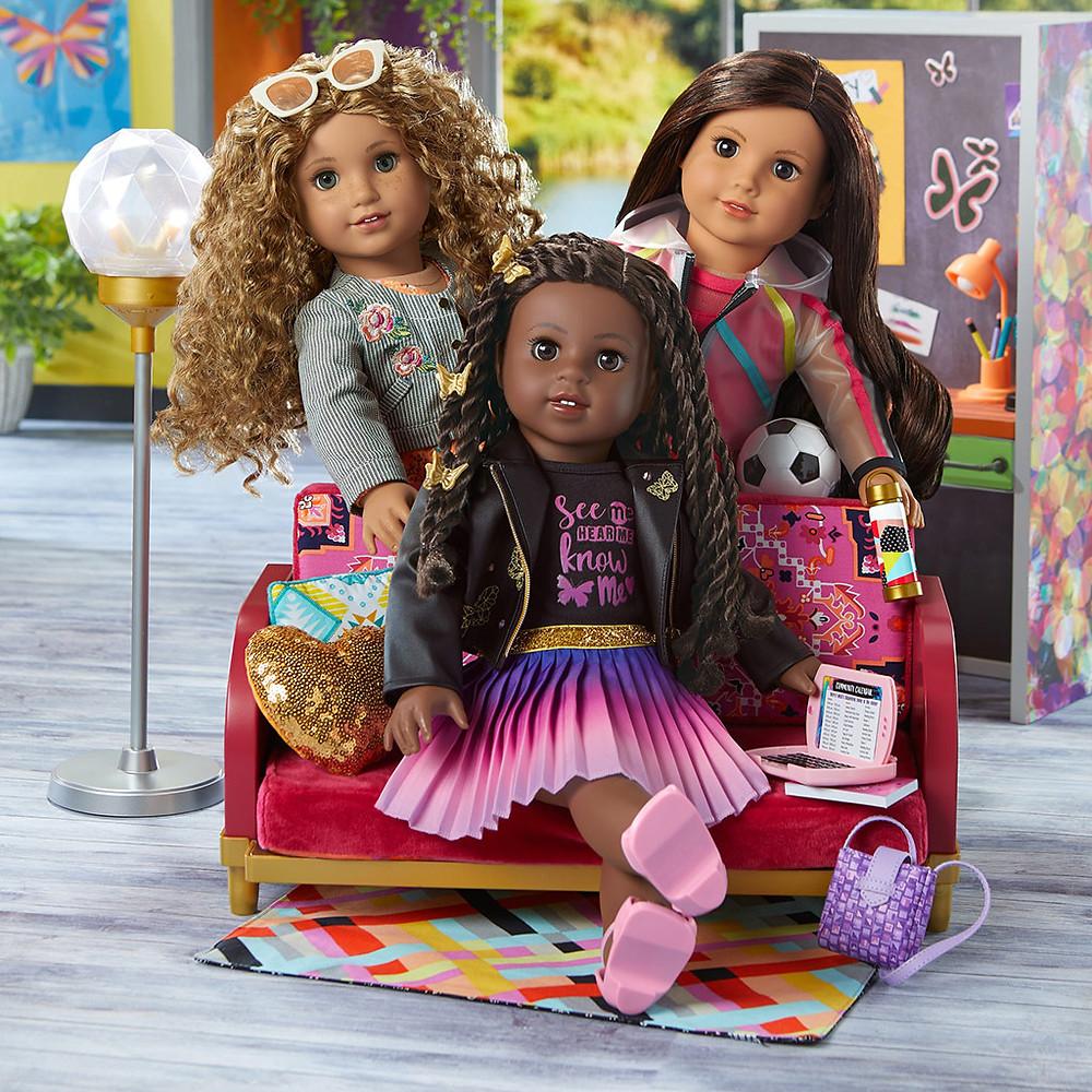 American Girl World By Us, American Girl Makena, Makena Williams, American Girl Evette, Evette Peeters, American Girl Maritza, Maritza Ochoa, World By Us