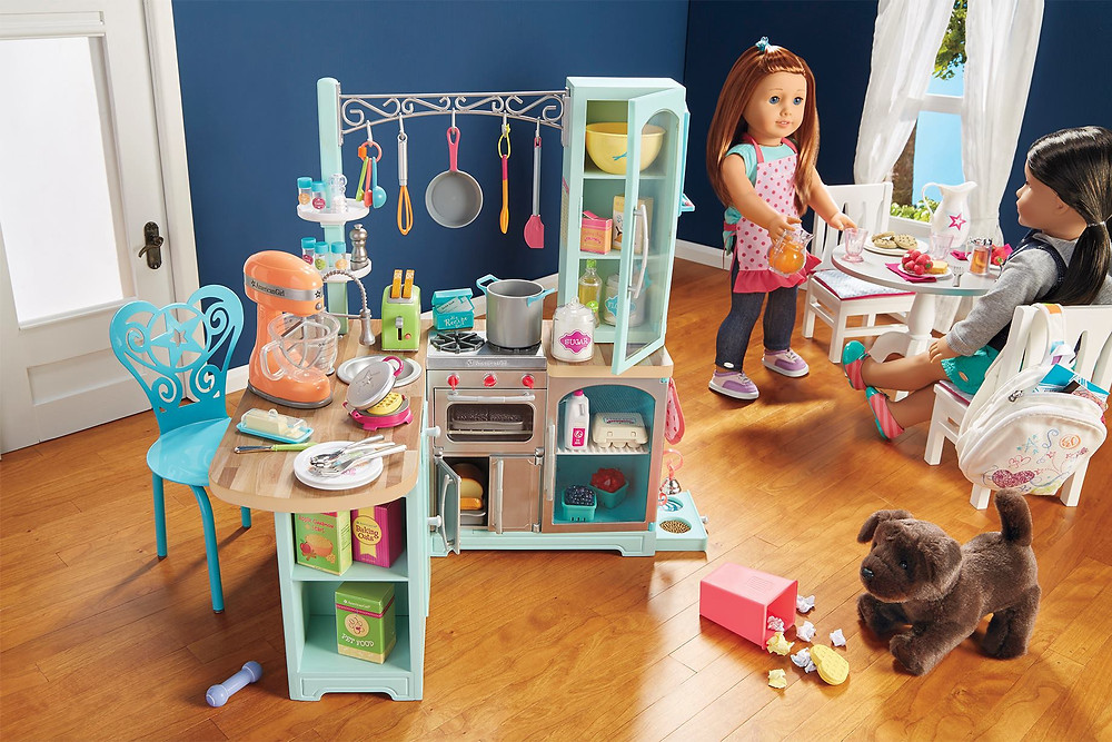 American Girl Doll Truly Me Kitchen Set, Our Generation Kitchen Set, American Girl Doll Truly Me Breakfast Set, American Girl Doll Truly Me Table And Chairs, American Girl Doll Truly Me Aprons, American Girl Doll Girl Of The Year 2015 Grace Thomas' French Bakery, American Girl Doll Truly Me Chocolate Lab Puppy, American Girl Doll Side-Cinch Tank Truly Me, American Girl Doll Hooded Denim Jacket Truly Me, American Girl Movie 2015 Grace Stirs Up Success, American Girl Doll Grace Thomas' Baking Set