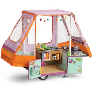 American Girl Doll Truly Me Adventure Pop-Up Camper, American Girl Doll Camper, American Girl Doll Trailer, American Girl Doll Girl Of The Year 2010 Lanie Holland Camper And Gear, American Girl Doll Truly Me Camper