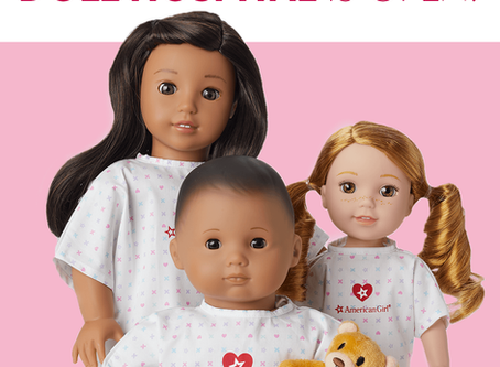 American Girl New Doll Hospital Gowns