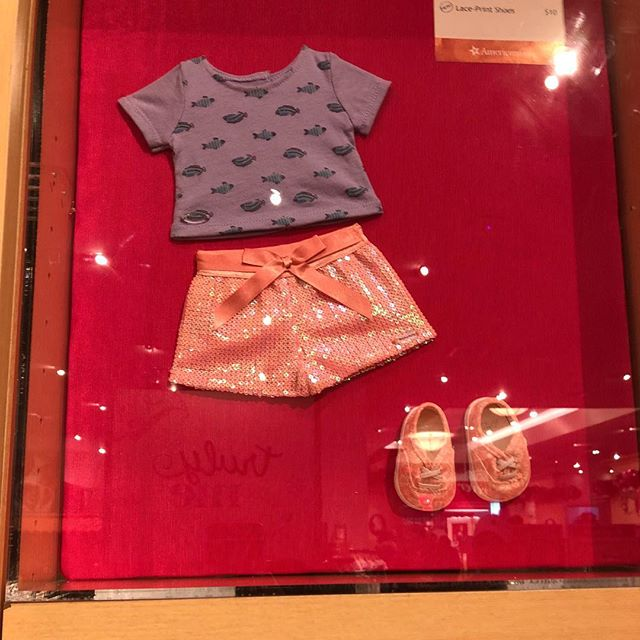Seashell Sequin Shorts, School of Fish Tee and Lace Shoes