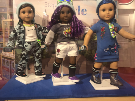 American Girl Truly Me Street Chic Dolls Displayed
