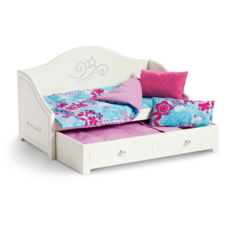 American Girl Doll Truly Me Trundle Bed And Bedding Set, American Girl Doll Bed, American Girl Doll Sleepovers, American Girl Doll Club, American Girl Doll Mia St. Clair Girl Of The Year 2008 Bedroom Furniture Set, American Girl Doll Girl Of The Year 2012 McKenna Brooks Loft Bed, American Girl Doll Girl Of The Year 2016 Lea Clark Rainforest House Hut