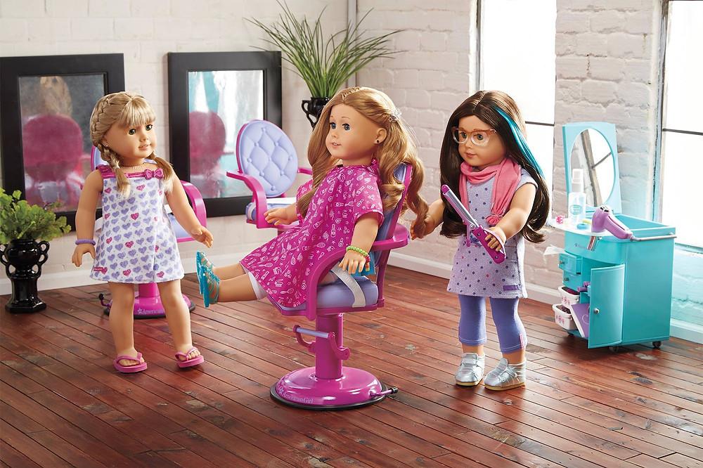 American Girl Doll Salon Chair, American Girl Doll Salon Center, American Girl Doll Sa