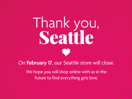 American Girl Seattle Closing February 17
