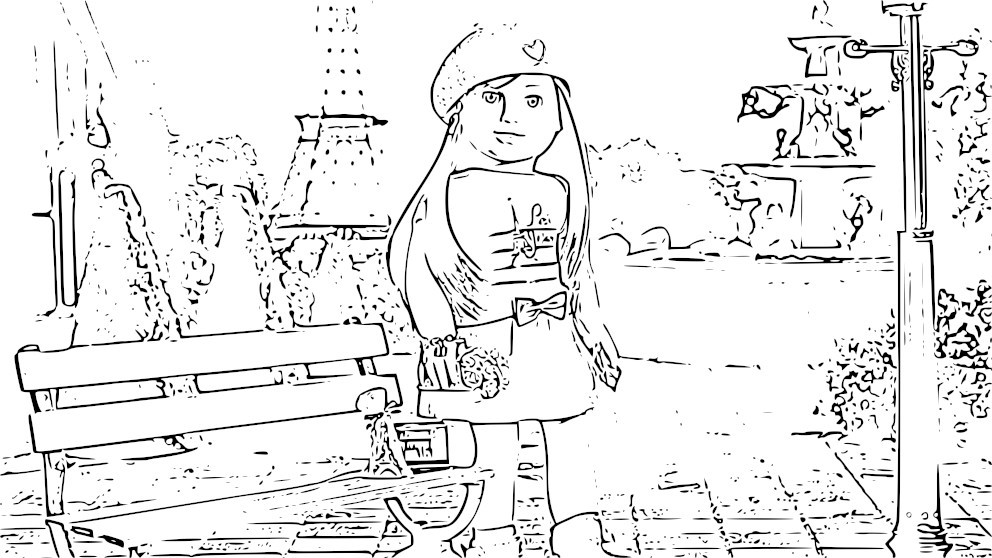 Grace American Girl Coloring Page!