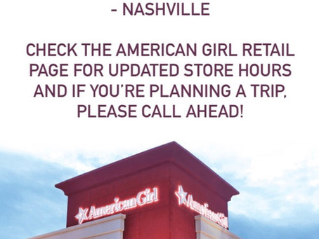 American Girl Temporary Store Closures Today