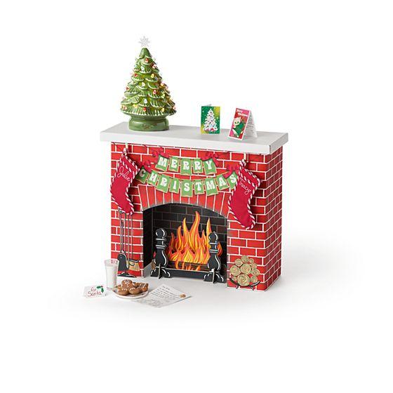 Julie's Christmas Fireplace- $75