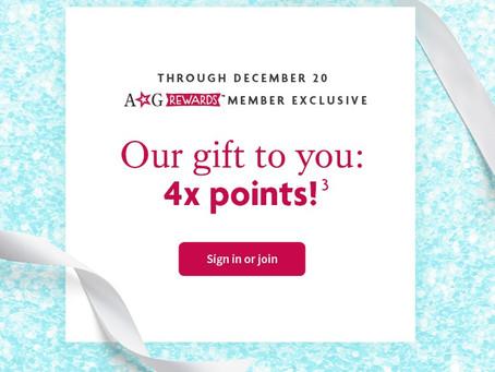 AG Rewards Quadruple Points EXTENDED!