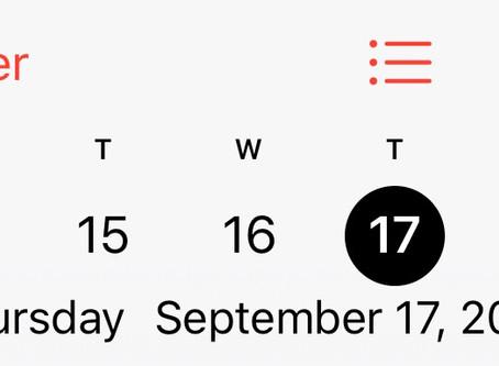 September 17...