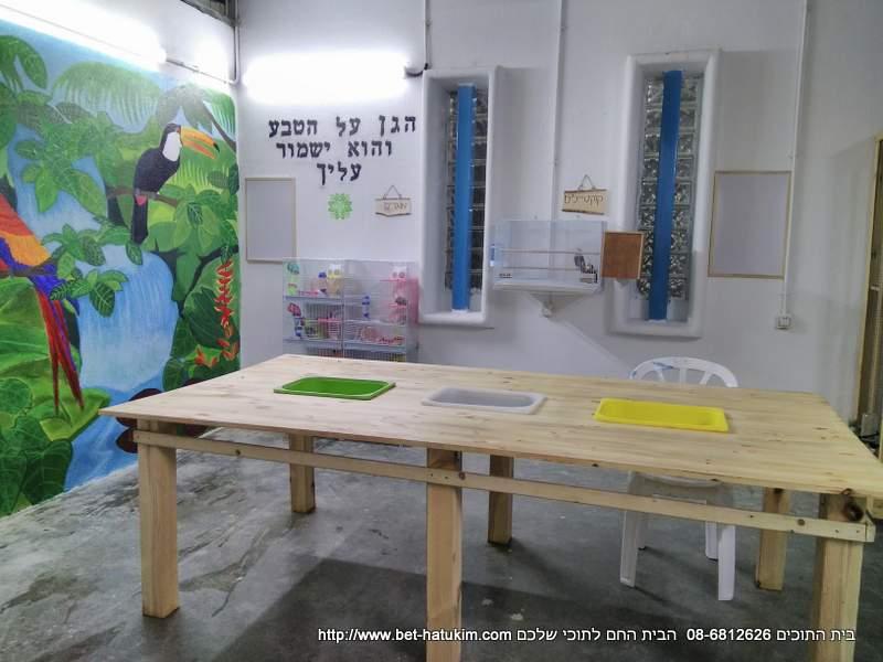 בניית פינת חי לבתי ספר בית התוכים
