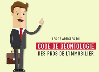 Covid-19 : La formation en e-learning code de déontologie des professionnels de l'immobilier est