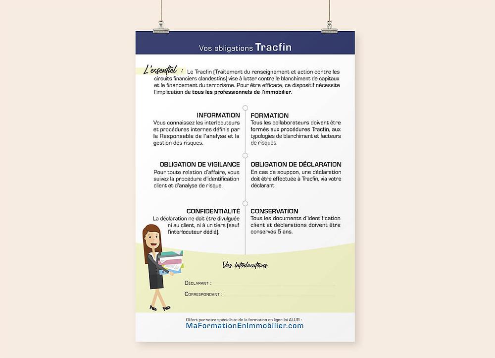 Affichage obligatoire Tracfin en agence immobilière
