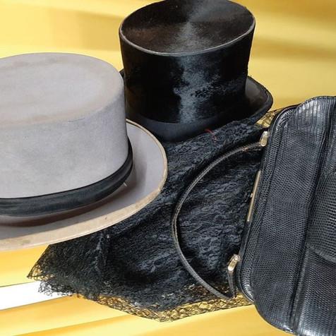 Chapeau haut-de-forme authentique - 19è et 20è siècle