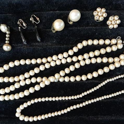 Bijoux en perles naturelles - Blanc ou écru - Intemporel