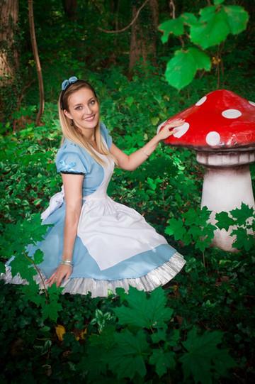 décor champignon rouge Alice au Pays des