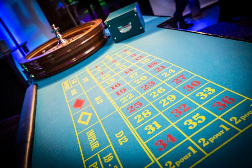 location décor casino Vegas table roulet