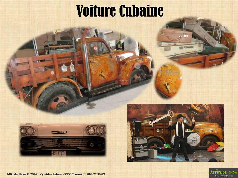 location décor voiture cubaine