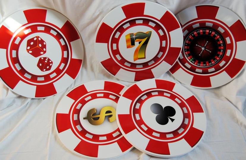 location jeton de casino 3D