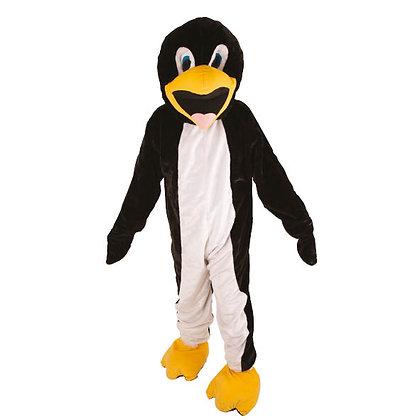Mascotte de pingouin à tête souple