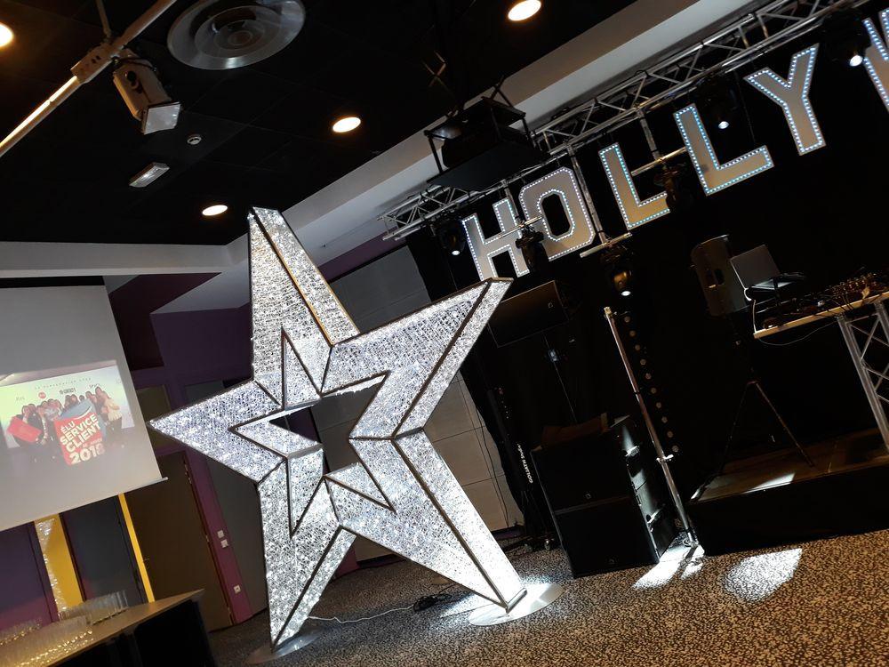 location décor cinéma étoile lumineuse g