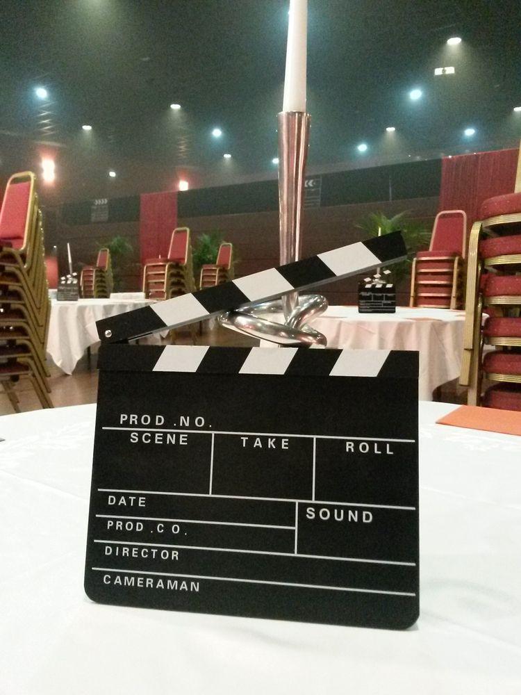 location décor clap de cinéma