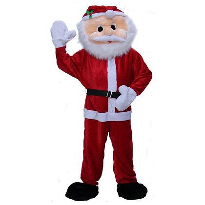 Mascotte de Père Noël à tête souple