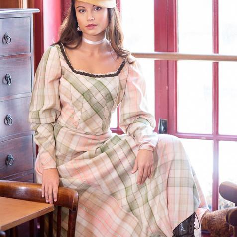 Tenue d'après-midi deux pièces en drap de laine - Fin 19è siècle