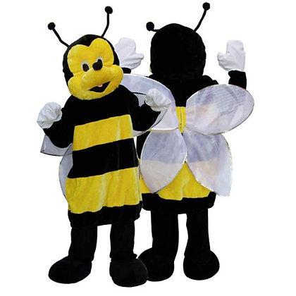 Mascotte d'abeille à tête souple
