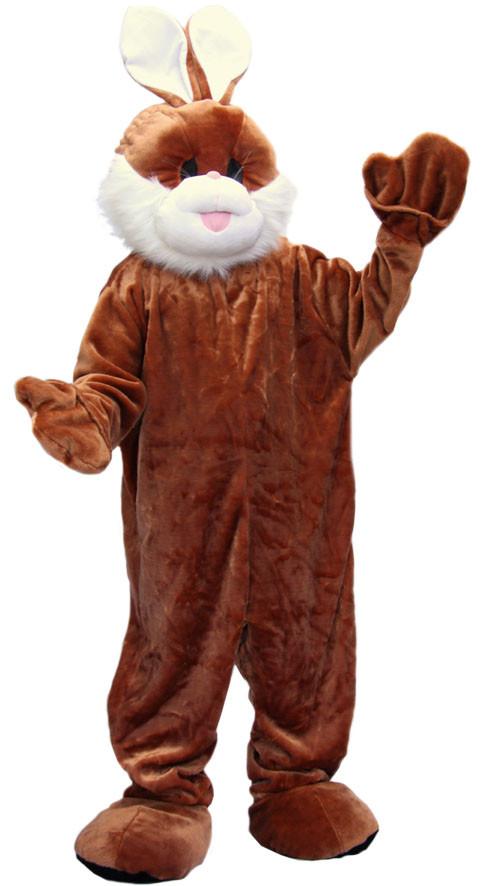 mascotte lapin marron