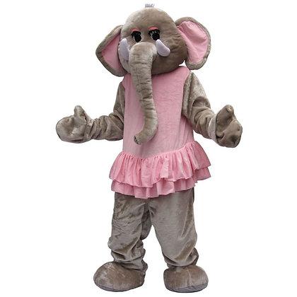 Mascotte d'éléphant à tête souple